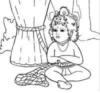 маленький Кришна