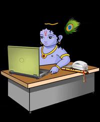 Кришна ищет в интернете вайшнавский юмор