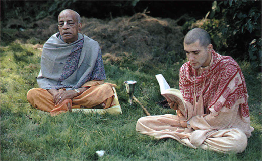 Шрила Прабхупада и Шрутакирти прабху