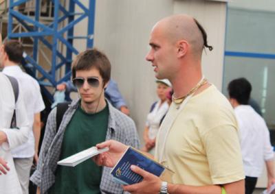 Дмитрий прабху на санкиртане